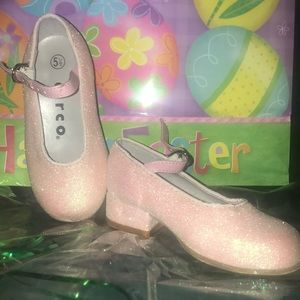 BABY Pink glitter dress shoes